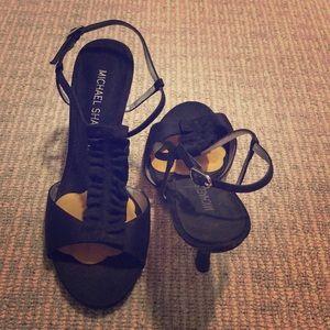 "Black Michael Shannon ""Johanna"" size 7 high heel"
